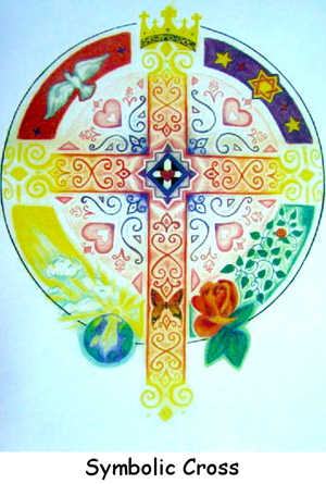 Art Cards & Posters: Symbolic Cross, Catherine Rose Hutchison