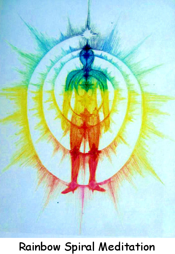 Art Cards & Posters: Rainbow Spiral Meditation, Catherine Rose Hutchson