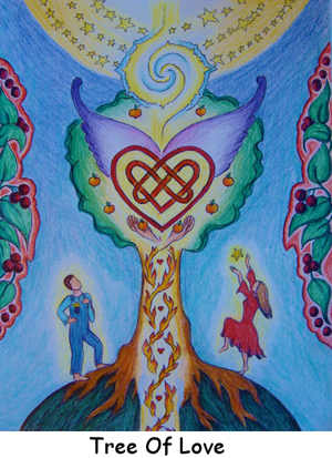 Art Cards & Posters: Tree of Love, Catherine Rose Hutchison